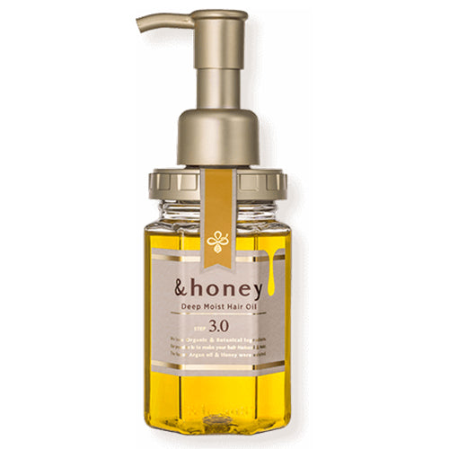 &honey Deep Moist Hair Oil Step3.0 (Moist Shine) 100ml - Damask Rose Honey Sent