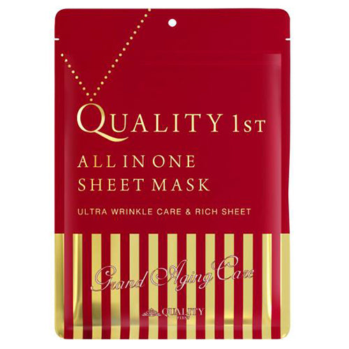 Quality First All in One Sheet Mask Grand Aging Care - 1box for 7pcs - Harajuku Culture Japan - Beauty Products Store