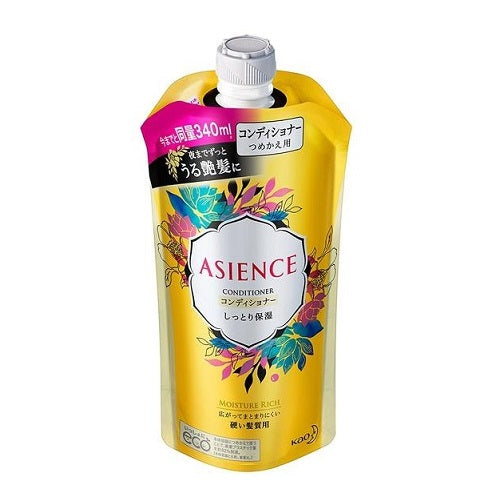 Asience Conditioner Moist 340ml - Refill - Harajuku Culture Japan - Beauty Products Store