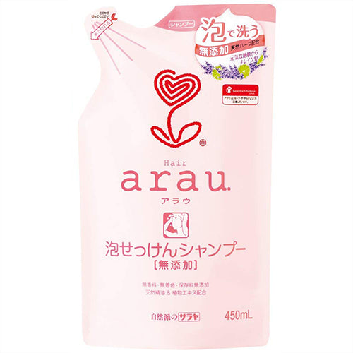 Arau Bubble Soap Hair Shampoo - 450ml - Refill - Harajuku Culture Japan - Beauty Products Store