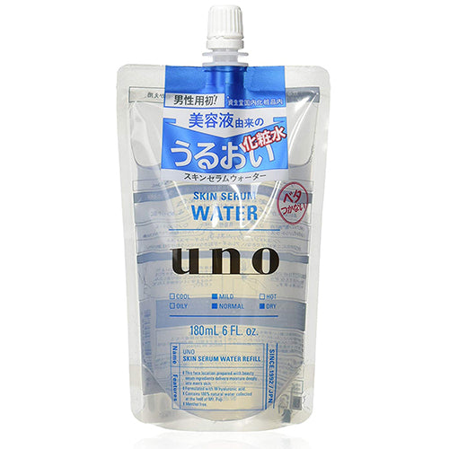 Shiseido UNO Skin Serum Water Men's Skin Lotion - 180ml -Refill
