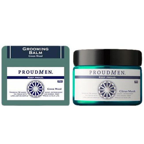 Proud Men Grooming Balm 40g - Green Wood - Harajuku Culture Japan - Beauty Products Store