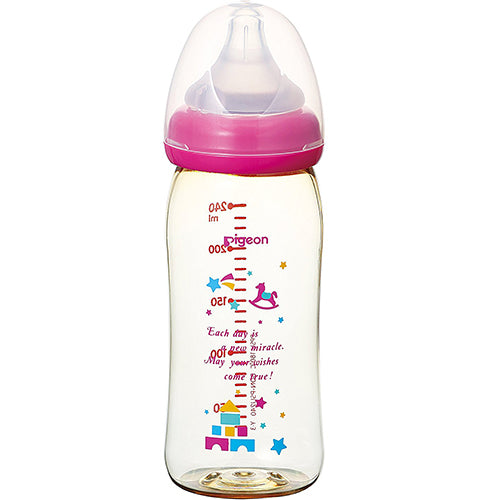 Pigeon Baby Bottle Plastic - 240ml - Toy Box Pattern