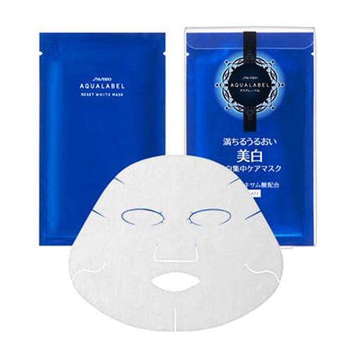 Shiseido Aqualabel Reset White Mask - 4pcs - Harajuku Culture Japan - Japanease Products Store Beauty and Stationery