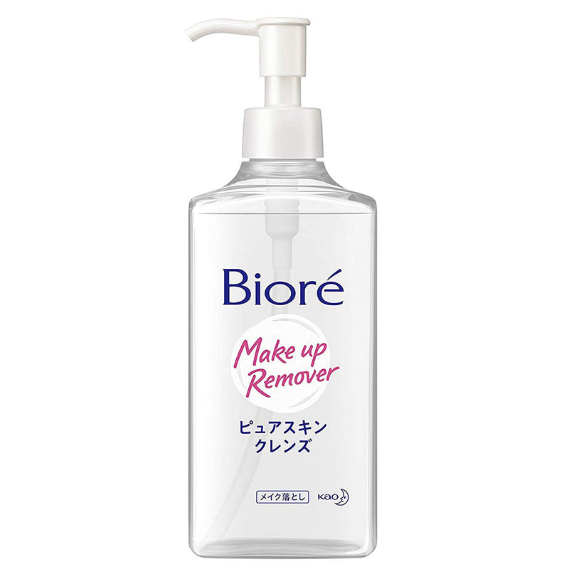 Biore Make-up Remover Pure Skin Cleans - 230ml - Harajuku Culture Japan - Japanease Products Store Beauty and Stationery