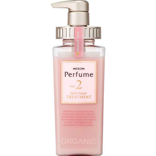 Mixim Potion Purfume Damask Rose Oil Step2 Moist Peapair Hair Treatment Pump 440ml - Damask Rose Raspberry Essential Oil Scent