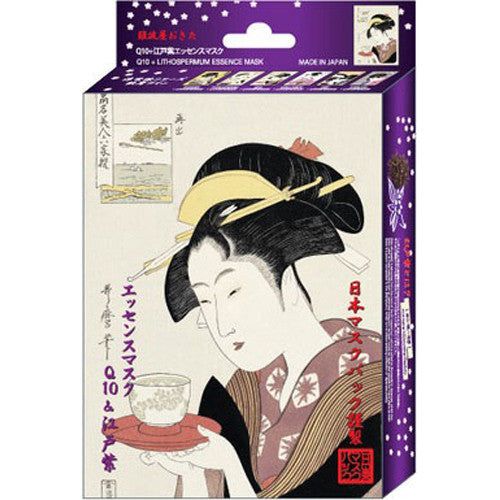 Ukiyoe Q10 + Edo Murasaki Essence Face Mask - 1Box For 10 pcs - Harajuku Culture Japan - Japanease Products Store Beauty and Stationery