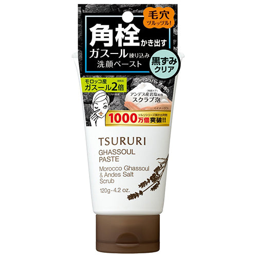 Tsururi Ghassoul Face Wash Paste Black Head Remover 120g - Harajuku Culture Japan - Beauty Products Store