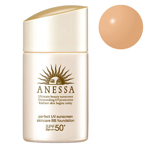 Shiseido Anessa Perfect UV Skin Care BB Foundation SPF50+/PA++++ 25ml - Natural Beige - Harajuku Culture Japan - Beauty Products Store