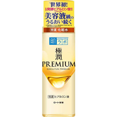 Rohto Hadalabo Gokujun Premium Hyaluronic Essence Face Lotion - 170ml - Harajuku Culture Japan - Japanease Products Store Beauty and Stationery