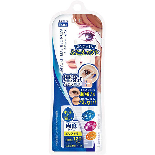 D-UP Wonder Eyelid Tape - Extra - 120 tapes - Harajuku Culture Japan - Japanease Products Store Beauty and Stationery