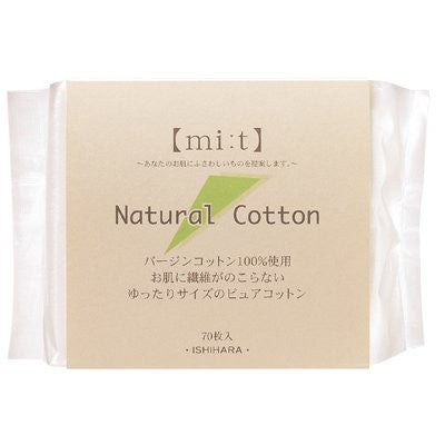 Cotton Labo Natural Cotton Puff - 70pcs - Harajuku Culture Japan - Beauty Products Store