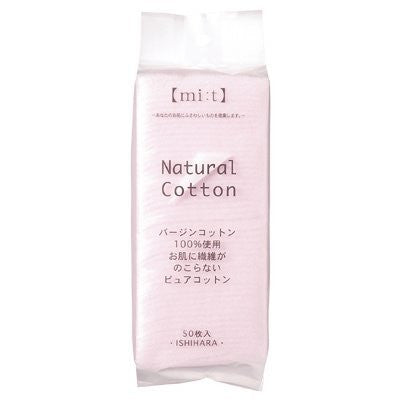 Cotton Labo Natural Cotton Puff - 50pcs - Harajuku Culture Japan - Beauty Products Store