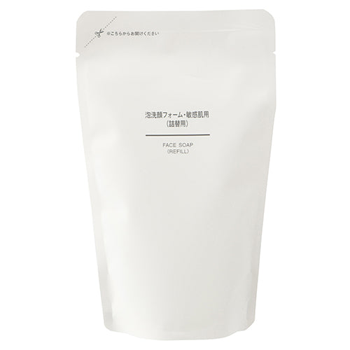 Muji Sensitive Skin Face Wash Form - 180ml - Refill