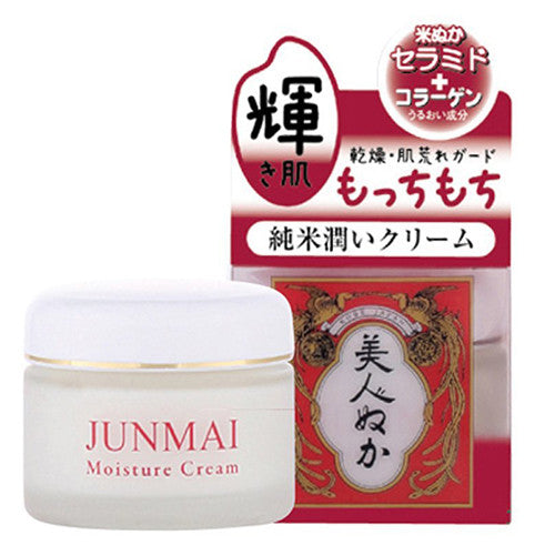 Bijinnuka Junmai Moist Cream - 43g - Harajuku Culture Japan - Beauty Products Store