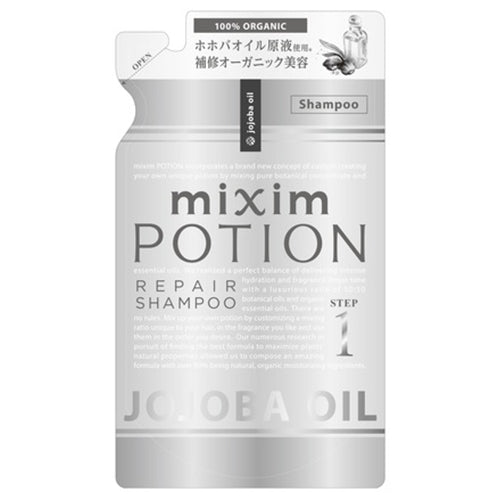 Mixim Potion Johoba Oil  Step1 Peapair Hair Shampoo Refill 350ml - Rose Geranium Essential Oil Scent