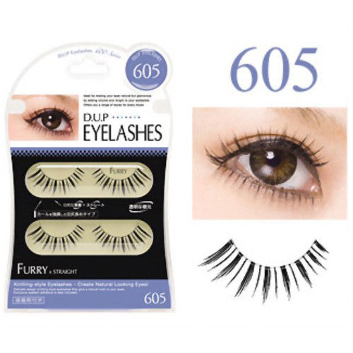 D.U.P False Eyelashes - Furry 605 - Harajuku Culture Japan - Beauty Products Store