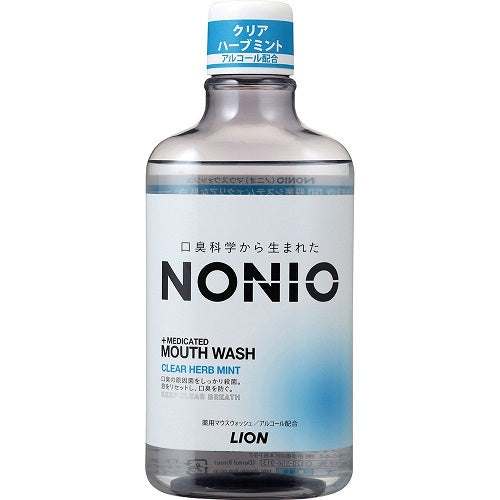 Lion Nonio Medicated Mouth Wash 600ml - Clear Herb Mint - Harajuku Culture Japan - Beauty Products Store