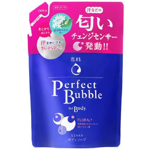 Shiseido Senka New Perfect Bubble For Body Floral Plus N  350ml  Refill