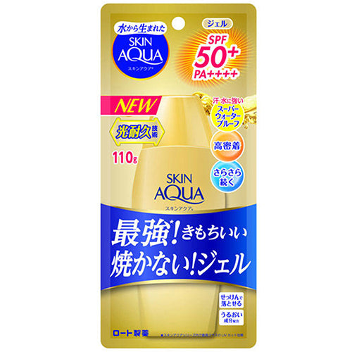 Skin Aqua Rohto Newer Model Super Moisture Gel 110g - Gold - SPF50+/PA++++ - Harajuku Culture Japan - Beauty Products Store