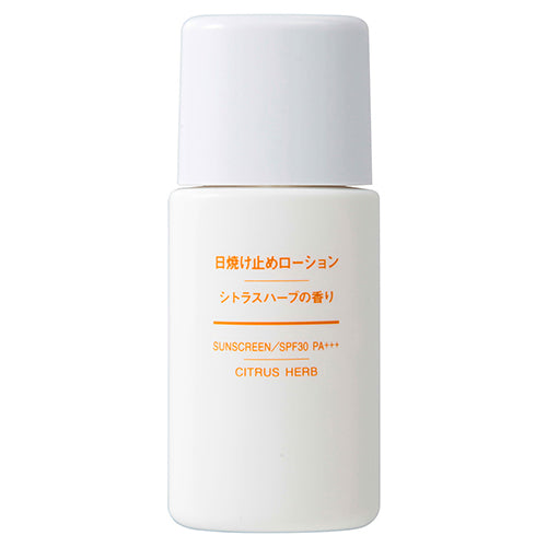Muji Sun Screen Lotion SPF30/PA+++ - 30ml - Citrus Herb