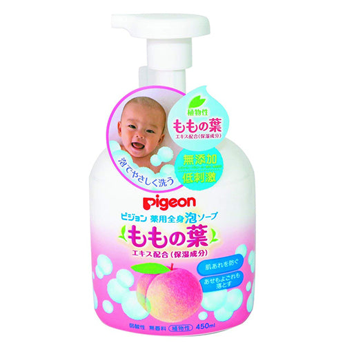 Pigeon Baby Medicated Bubble Whole Body Soap Leaves of Peach - 450ml