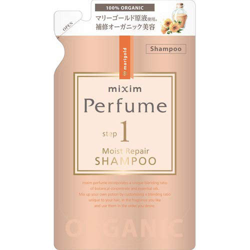 Mixim Potion Purfume Ceramide Oil Step1Moist Peapair Hair Shampoo Pump 350ml - Marigold Chamomile Essential Oil Scent - Refill