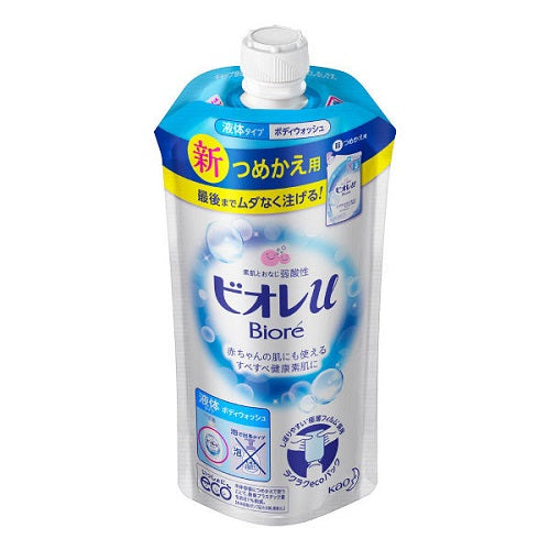 Biore U Body Wash Refill 340ml - Fresh Floral Scent - Harajuku Culture Japan - Beauty Products Store