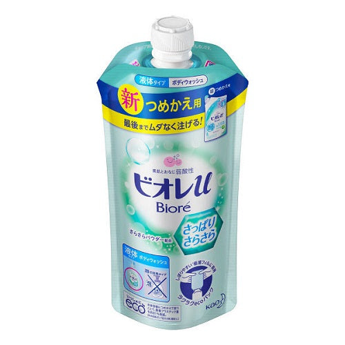 Biore U Body Wash Refill 340ml - Refreshingly - Harajuku Culture Japan - Beauty Products Store