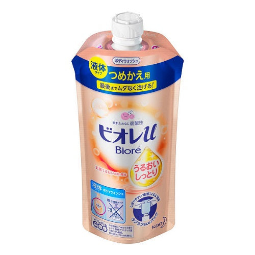 Biore U Body Wash Extra Moisture Refill 340ml - Floral Fruity Scent - Harajuku Culture Japan - Beauty Products Store