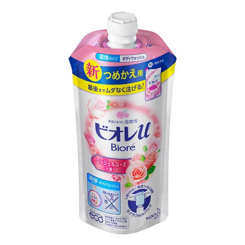 Biore U Body Wash Refill 340ml - Angel Rose Scent - Harajuku Culture Japan - Beauty Products Store