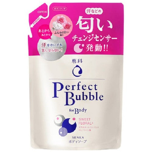 Shiseido Senka New Perfect Bubble For Body Sweet Floral N  350ml  Refill