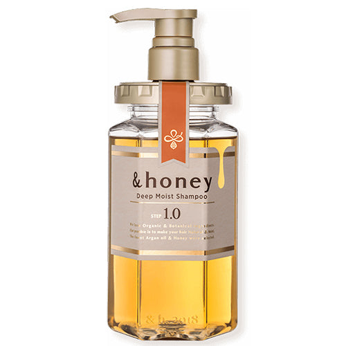&honey Deep Moist Hair Shampoo Step1.0 (Moist Wash) Pump 440ml - Peony Honey Scent