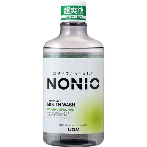 Lion Nonio Medicated Mouth Wash 600ml - Splash Citrus Mint - Harajuku Culture Japan - Beauty Products Store
