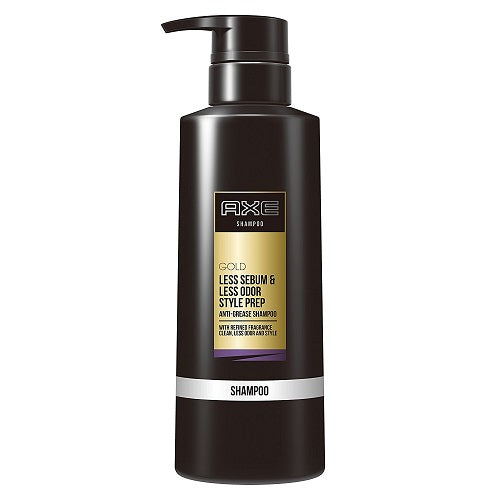 Axe Gold Less Sebum & Less Odor Style Prep Anti Grease Shampoo Pump 350g - Harajuku Culture Japan - Beauty Products Store