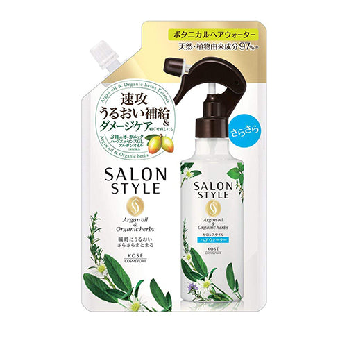 Kose Salon Style Botanical Treatment Hair Water Sasara - 450ml - Refill