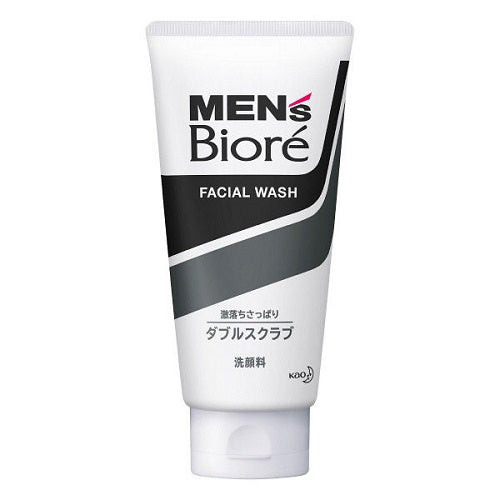 Biore Mens Facial Wash Double Scrub 130g - Harajuku Culture Japan - Japanease Products Store Beauty and Stationery