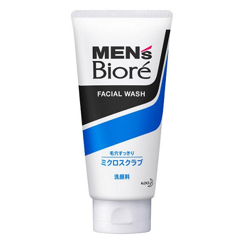 Biore Mens Facial Wash Micro Scrub 130g - Harajuku Culture Japan - Beauty Products Store