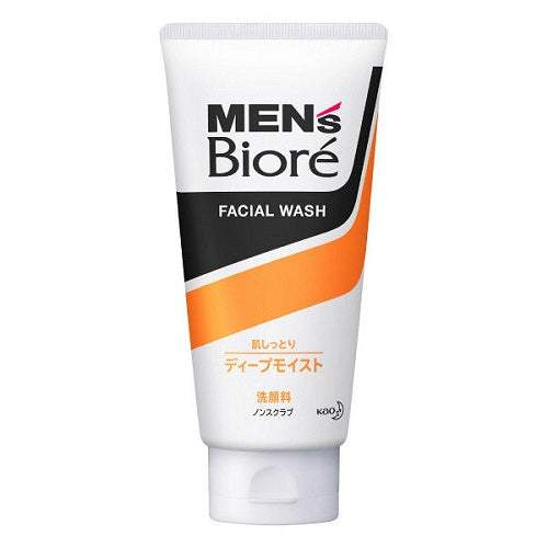 Biore Mens Facial Wash Deep Moist 130g - Harajuku Culture Japan - Beauty Products Store