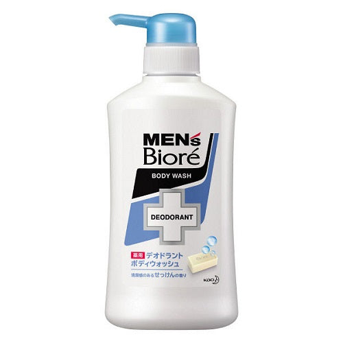 Biore Mens Medicinal Deodorant Body Wash Pump 440ml - Soap Scent - Harajuku Culture Japan - Beauty Products Store