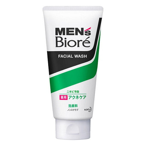 Biore Mens Facial Wash Medicated Acne Care 130g - Harajuku Culture Japan - Beauty Products Store