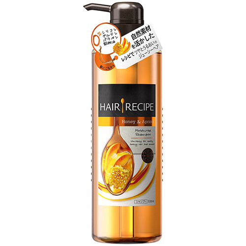 Hair Recipe Honey Apricot Enriched Moisture Recipes Hair Shampoo - 530g - Harajuku Culture Japan - Japanease Products Store Beauty and Stationery