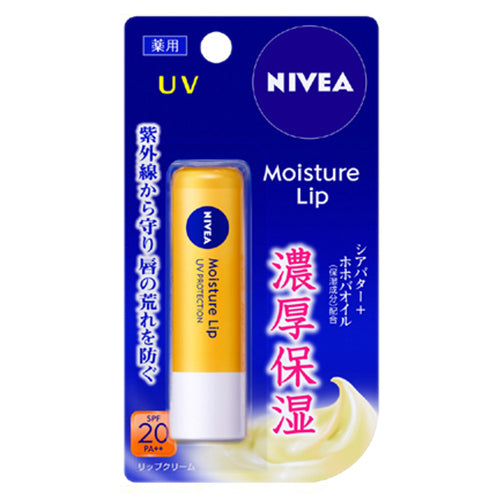 Nivea Moisture Lip 3.9g SPF20 PA++ - UV - Harajuku Culture Japan - Japanease Products Store Beauty and Stationery