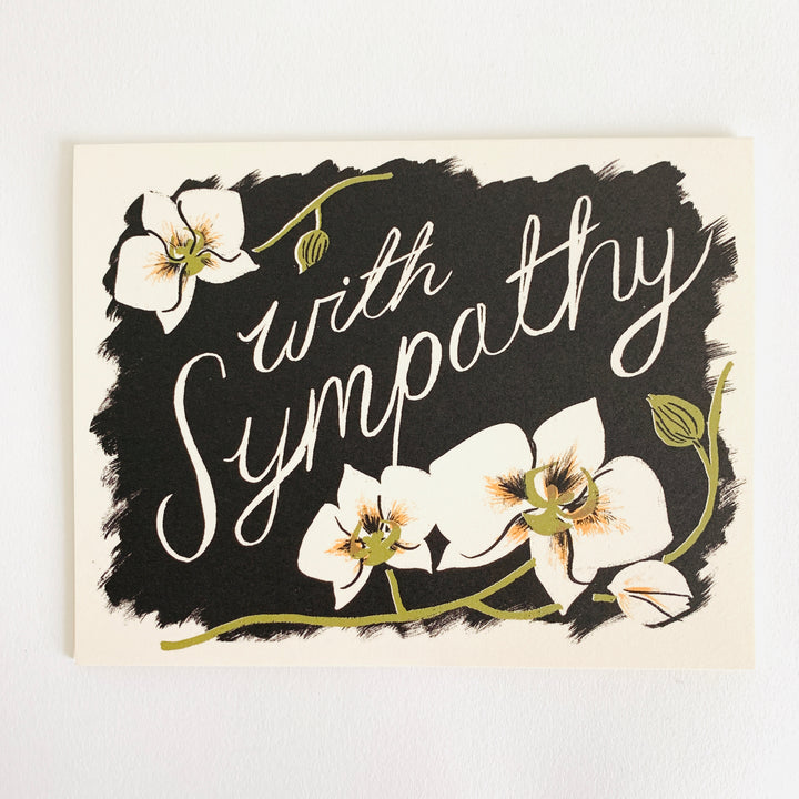 Sympathy Orchids Card