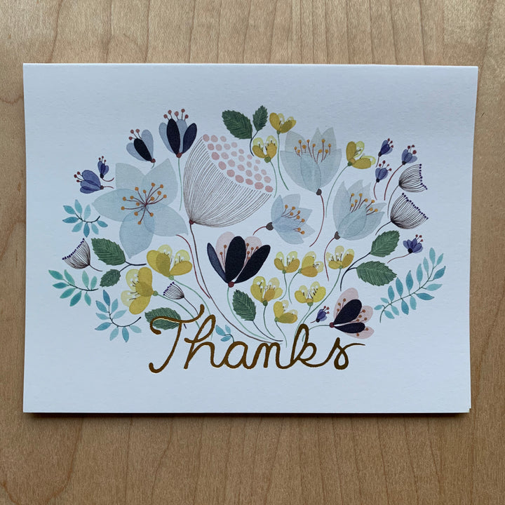 April Bouquet Thank You Card