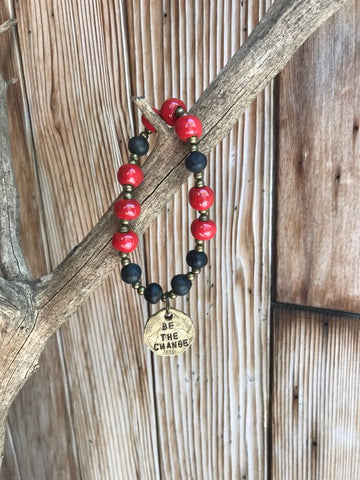 Be The Change Bracelet - Red