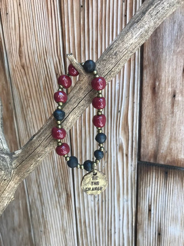 Be The Change Bracelet - Burgundy
