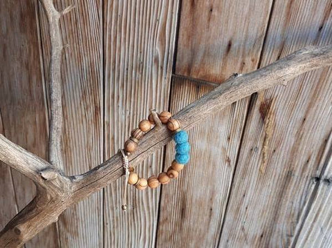 Adult Essential Oil Diffuser Bracelet - Sky Blue