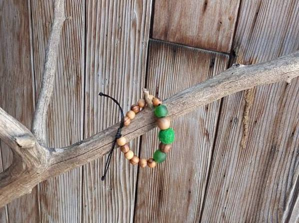Child Essential Oil Diffuser Bracelet - Green