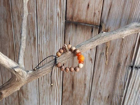 Child Essential Oil Diffuser Bracelet - Orange